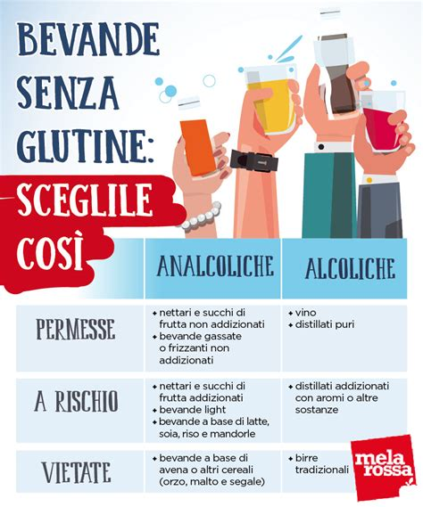 alimenti per celiaci elenco bevande senza glutine i consigli per scegliere quelle