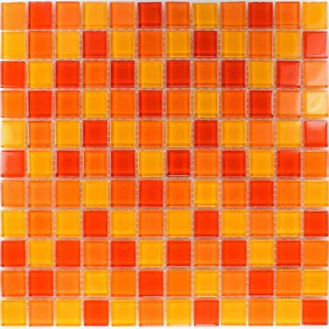 fliese orange glass mosaic tiles orange yellow mix www mosafil co uk