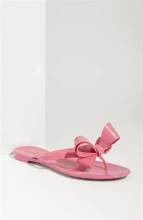 Sandal Bow Pink by Valentino Bow Sandal In Pink Lyst