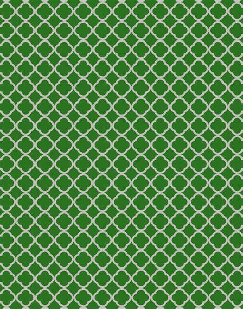 green quatrefoil wallpaper doodlecraft school pride team spirit wallpapers