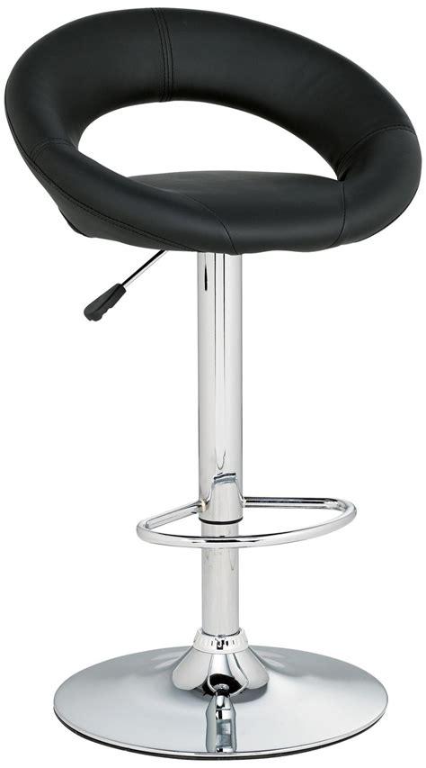 Leather Adjustable Bar Stools by Orbit Black Faux Leather Adjustable Counter Or Bar Stool