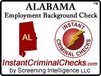 alabama background check alabama employment background check al criminal data