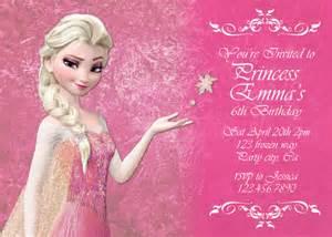 items similar to frozen pink elsa birthday invitation