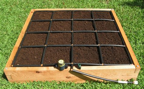 4x4 Garden by Handcrafted 4x4 Raised Garden Kit W A Watering System