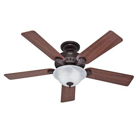 hunter bronze ceiling fan hunter oberlin 52 in led indoor brushed nickel ceiling