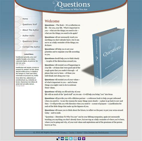 website layout questions website design and development questions the book john