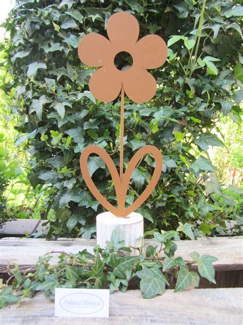 Rost Deko Garten Blume by Garten Deko Figur Blume Rost Look Deko Garten 33cm Shabby