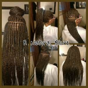 color braiding hair small waist length senegalese twists installed with