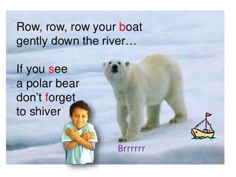 row row row your boat lyrics polar bear row your boat by room 10