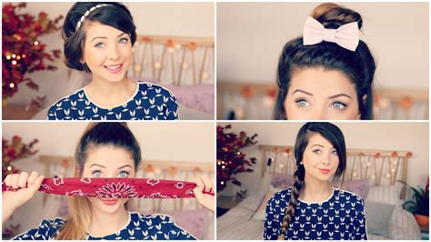 Easy Hairstyles Zoella | how to quick easy hair styles zoella youtube