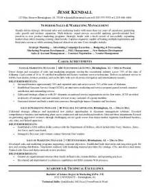 marketing resume sles corporate sales marketing resume