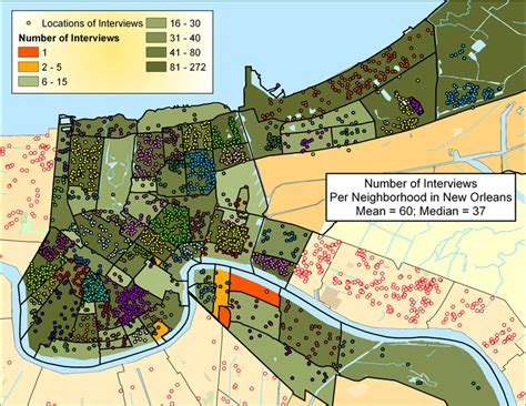 map of new orleans damage post hurricane research maps