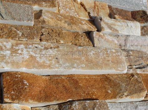 yellow quartz ledgstone veneer lp004 vieka stone co ltd