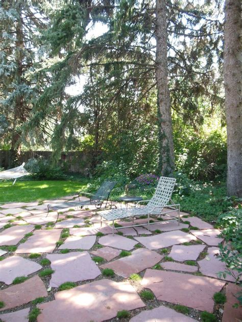 Kitchen Table Centerpieces Ideas flagstone patio patio traditional with plants glass doors