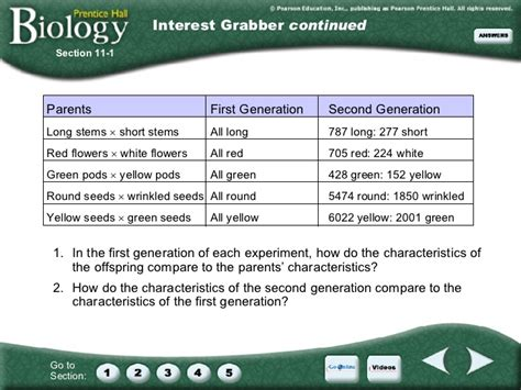 introduction to genetics section 11 1 answers chapter 11 introduction to genetics