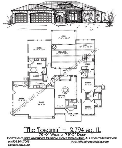 andrews home design group the toscana 2 794 00 andrews home design group st