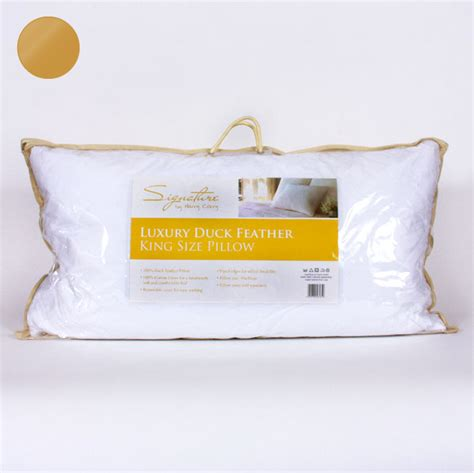 luxury duck feather king size pillow harry corry limited