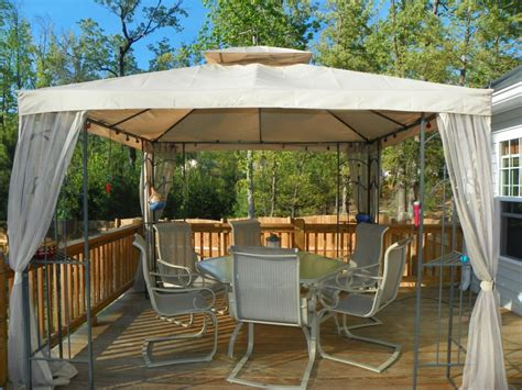 backyard canopy gazebo materials and types of patio gazebo for your landscape