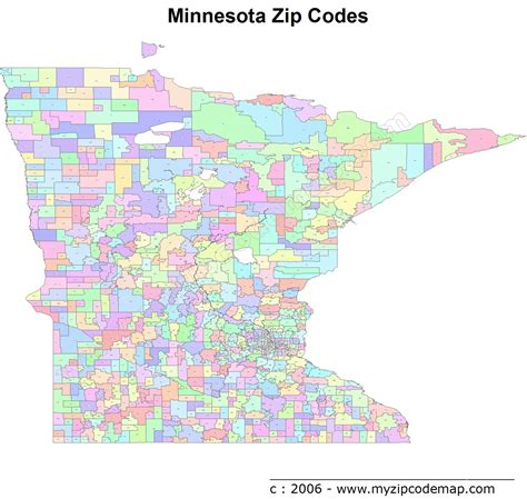 printable zip code maps minnesota zip code maps free minnesota zip code maps