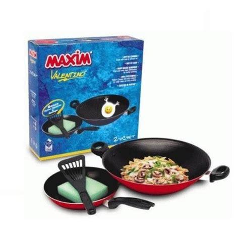 Maxim Frypan 22 Cm maxim teflon valentino set frypan 22 cm wok 30 cm