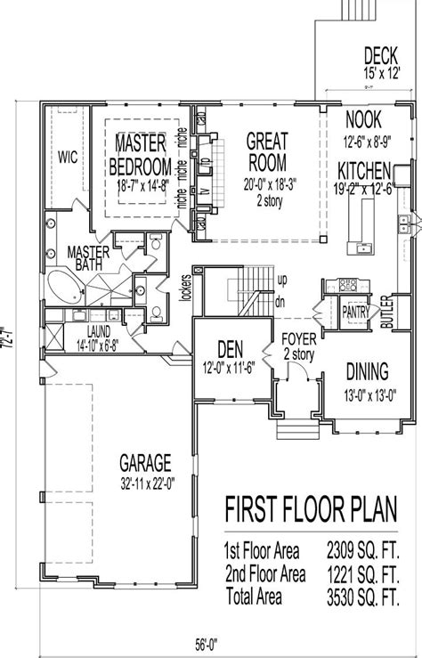 house plans with master bedroom on floor small two