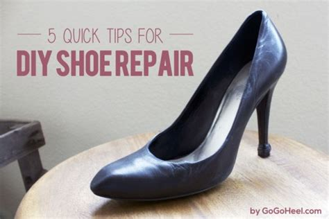 diy shoe resole gogo heel