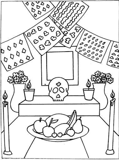 imagenes infantiles para colorear del dia de muertos el dia de muertos dibujos para colorear ciclo escolar