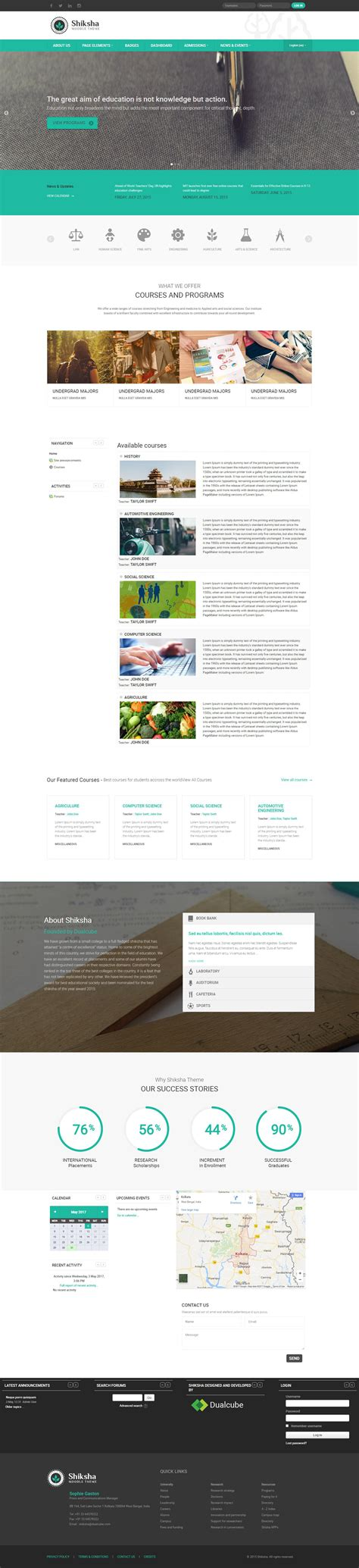 moodle themes themeforest shiksha responsive moodle theme by sorcerers themes