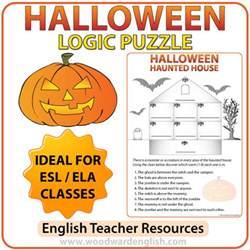 halloween logic puzzle in english woodward english