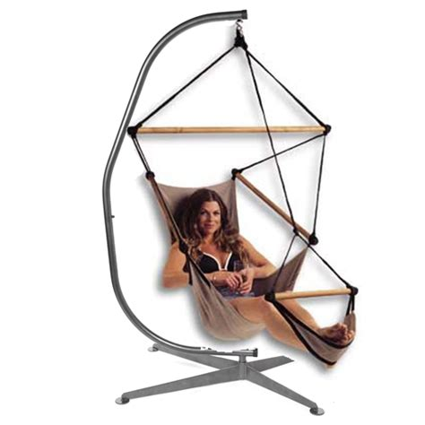 Hammock Chair Stand by C Shaped Hammock Chair Stand Black