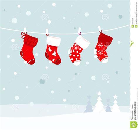 christmas stockings  winter nature royalty  stock  image