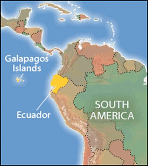 galapagos map galapagos plants wildlife threat npr
