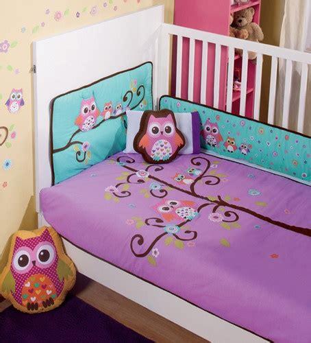 owl crib bedding new purple violet aqua baby owl crib bedding nursery sheet