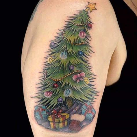34 adorable christmas tattoo ideas that will make you look