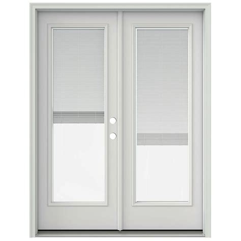 Jeld Wen Patio Doors With Blinds Built In by Jeld Wen 72 In X 80 In Primed Prehung Right Inswing