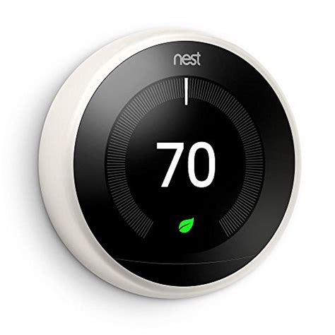 Nest T3017US 3rd Generation Learning Thermostat   Works with Alexa   White   GoSale Price