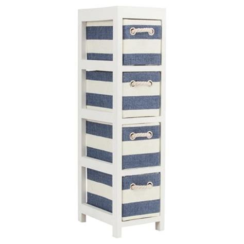 4 drawer plastic storage unit tesco buy nautical canvas 4 drawer storage unit from our