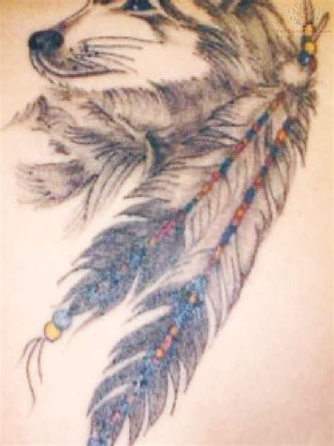 wolf feather tattoo designs american images designs