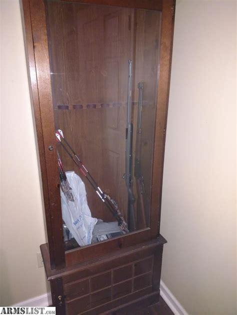 wood gun cabinet for sale armslist for sale trade wood gun cabinet