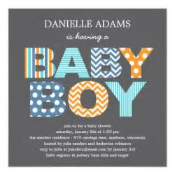 cutout letters baby shower invitation boy 5 25 quot square invitation card zazzle