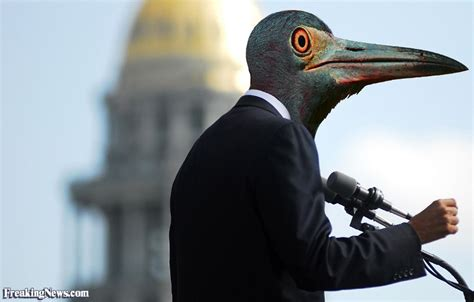 Barack Obama with a Beak Pictures