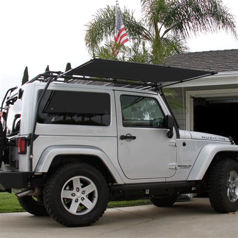 jeep wrangler awning sir shade telescoping awning system jk 2 door for gobi