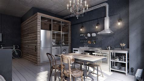 Micro Home Designs in this 431 ft2 industrial chic apartment the bathroom