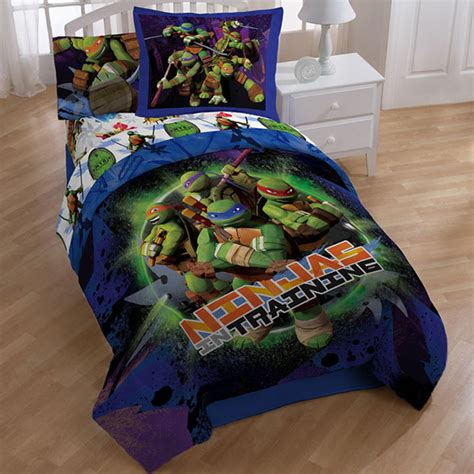 ninja turtle comforter set teenage mutant ninja turtles stars 8 piece bed in a bag