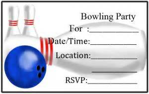 8 best images of make printable invitations bowling bowling birthday invitation
