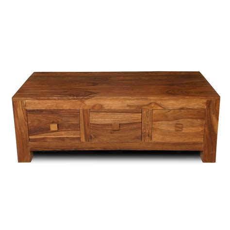 Cuba Sheesham 3 Drawer Coffee Table Casa Bella Furniture Uk Sheesham Coffee Tables