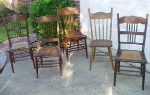 Antique Oak Dining Room Chairs Antique Oak Dining Chairs 5 Assorted 110 00 Picclick
