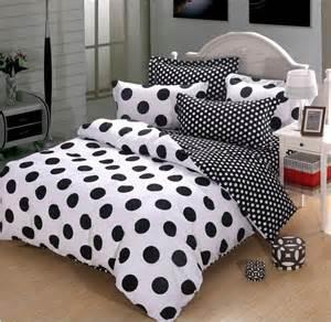 polka dot bedding black and white polka dot cotton duvet cover bedding black