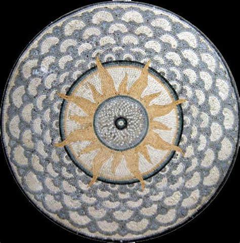 Handmade Mosaic Tiles - custom designed marble mosaic medallion tiles venice