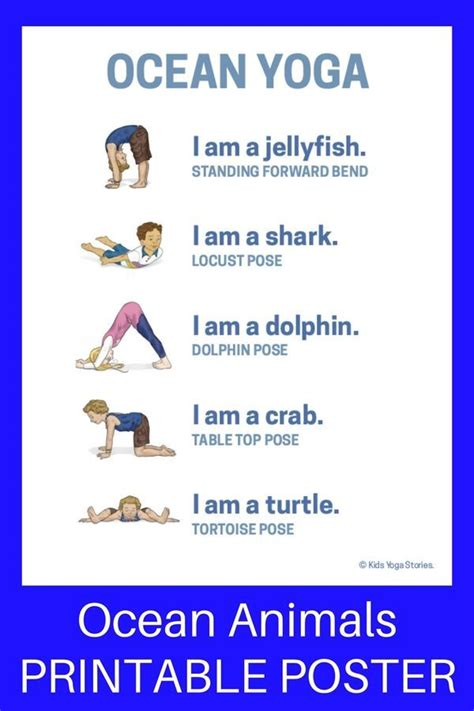 printable book poster 1248 best yoga poses images on pinterest toddler yoga